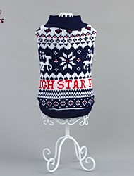 cheap -Cat Dog Sweater Winter Dog Clothes Blue Costume Cotton Snowflake Casual / Daily XS S M L XL