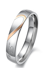 cheap -Women's Couple Rings Silver Titanium Steel Fashion Wedding Party Jewelry