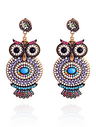 cheap -Women's Drop Earrings Resin Earrings Jewelry Blue / Pink For Party Daily Casual