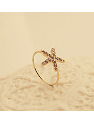 cheap -Women's Statement Ring Crystal Golden Crystal Gold Plated Fashion Party Daily Jewelry