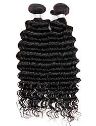 cheap -Hair Weaves Brazilian Hair Deep Wave Human Hair Extensions Virgin Human Hair Natural Color Hair Weaves / Hair Bulk / 10A