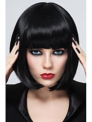 cheap -Synthetic Wig Straight Straight Bob With Bangs Wig Short Synthetic Hair Women's Black StrongBeauty