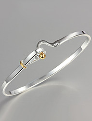 cheap -Women's Bracelet Bangles Sterling Silver Bracelet Jewelry Silver For Christmas Gifts Wedding Party Daily Casual