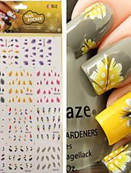 cheap -1 pcs 3D Nail Stickers Nail Jewelry Water Transfer Sticker nail art Manicure Pedicure Punk / Fashion Daily / PVC(PolyVinyl Chloride)