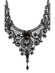 cheap -Women's Onyx Choker Necklace Pendant Necklace Ladies Vintage Gothic Bridal Lace Black Necklace Jewelry For Wedding Party Daily Casual