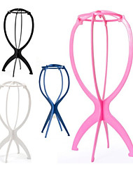 cheap -folding-stable-durable-wig-hair-hat-cap-holder-stand-holder-display-tool(note:only holder,no wig)