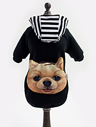 cheap -Dog Costume / Hoodie / Outfits Red / Black Dog Clothes Winter Animal Holiday / Cosplay / Halloween