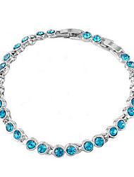 cheap -Women's Crystal Chain Bracelet - Crystal Unique Design, Fashion Bracelet Green / Blue / Pink For Wedding Party Daily
