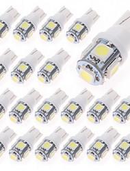 cheap -T10 Car Light Bulbs 1 W SMD 5050 80 lm LED Interior Lights