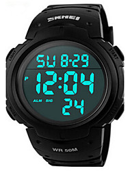 cheap -SKMEI Men's Sport Watch Wrist Watch Digital Digital Water Resistant / Waterproof Alarm Calendar / date / day / Two Years / Quilted PU Leather