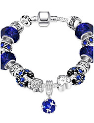 cheap -Women's Charm Bracelet Vintage Bracelet Ladies Silver Plated Bracelet Jewelry Purple / Blue / Pink For Christmas Gifts Party Daily Casual