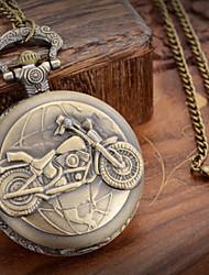 cheap -Men's Pocket Watch Japanese Quartz Bronze 30 m Casual Watch Analog Charm One Year Battery Life