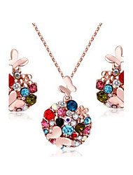 cheap -Women's Jewelry Set Earrings Necklace - Party Work Casual Gold Silver For