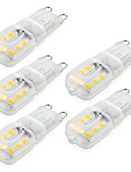 Недорогие -ywxlight® 5шт с регулируемой яркостью g9 4 Вт 300-400 лм светодиодные двухконтактные лампы 14 светодиодов smd 2835 теплый белый холодный белый натуральный белый переменный ток 220 В