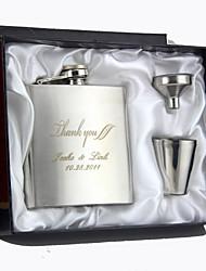 abordables -Acier inoxydable Flasque Marié / Groom / Couple Mariage / Anniversaire / Je vous remercie