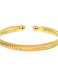 cheap -Women's Bracelet Bangles Cuff Bracelet Ladies Unique Design Simple Style Fashion Open Gold Plated Bracelet Jewelry Golden For Christmas Gifts Party Daily Casual