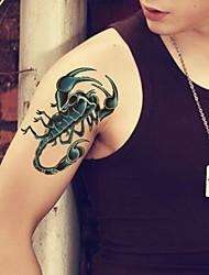 Недорогие -1 pcs Временные татуировки Водонепроницаемый / Non Toxic / Сияние и блеск Лицо / Корпус / руки Блеск Аппликаторы для рисунков на теле / С рисунком / Нижняя часть спины / Waterproof / 3-D