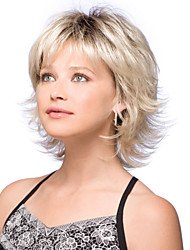 cheap -Synthetic Wig Natural Wave Natural Wave Bob Short Hairstyles 2020 With Bangs Wig Blonde Short Blonde Synthetic Hair Women's Dark Roots Side Part Blonde