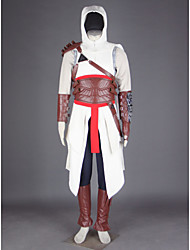 cheap -Inspired by Assassin Altair Video Game Cosplay Costumes Cosplay Suits Patchwork Pants Gloves Belt Costumes / Cloak / T-shirt / Hat / Shoulder Armor / Gauntlets