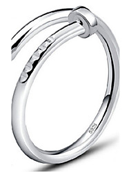 cheap -Women's Band Ring wrap ring thumb ring Silver Golden Sterling Silver Ladies Party Daily Jewelry Adjustable