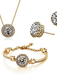 cheap -Crystal Jewelry Set Ladies Party Work Casual Earrings Jewelry Gold / Silver For Party Birthday Engagement Gift / Necklace