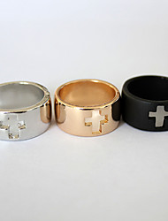 cheap -Band Ring Golden Black Silver Stainless Steel Fashion 7 / Women's
