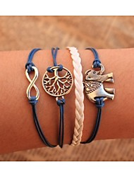 cheap -Chain Bracelet Wrap Bracelet Leather Bracelet Rope Tree of Life Animal Infinity Ladies Personalized Unique Design Leather Bracelet Jewelry Blue For Party Daily Casual