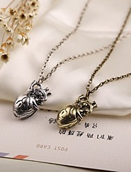 cheap -Women's Pendant Necklace Heart Alloy Gold Silver Necklace Jewelry For Thank You Valentine