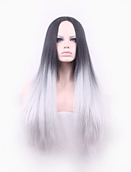 cheap -europe black and grey heat resistant hair synthetic wigs
