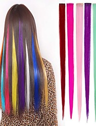 cheap -Straight Classic Synthetic Hair Hair Extension Clip In Ombre Daily