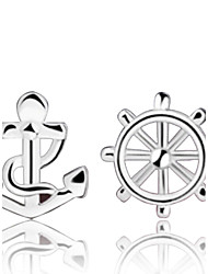 cheap -Women's Stud Earrings Anchor Sterling Silver Silver Earrings Jewelry Silver For Wedding Party Daily