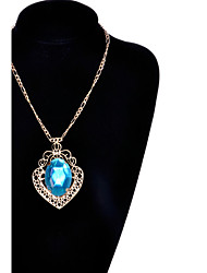 cheap -Women's Pendant Necklace Aquarius Fashion Synthetic Gemstones Imitation Diamond Alloy Screen Color Necklace Jewelry For Special Occasion Birthday Gift