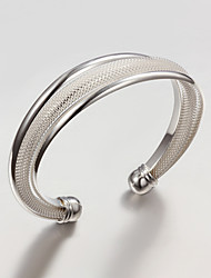 cheap -Women's Bracelet Bangles Asian Sterling Silver Bracelet Jewelry Silver For Wedding Party Daily Casual