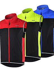 cheap -Arsuxeo Men's Cycling Vest Bike Vest / Gilet Jacket Windbreaker Windproof Breathable Quick Dry Sports Patchwork Black / Red / Black / Green / Black / Blue Mountain Bike MTB Road Bike Cycling Clothing