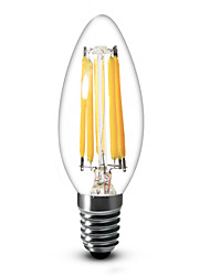 cheap -LED Candle Lights 600 lm E12 C35 6 LED Beads COB Dimmable Warm White 110-130 V / 1 pc / RoHS / LVD