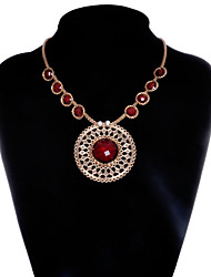 cheap -Women's Onyx Pendant Necklace European Alloy Fuchsia Gold Necklace Jewelry For