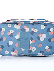 cheap -Travel Organizer Travel Luggage Organizer / Packing Organizer Travel Toiletry Bag Large Capacity Portable Travel Storage for Bras Clothes Nylon / Floral / Durable