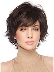 cheap -dark brown full wig for women cheap wigs short curly synthetic false hair short natural women s wigs