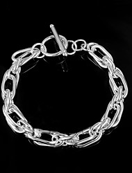 cheap -Women's Chain Bracelet Sterling Silver Bracelet Jewelry Silver For Wedding Party Daily Casual