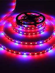 cheap -ZDM 1PC 5M 300 x 5050 SMD 10mm LEDs Promotion of Plant Generated Lamp Flexible Light Strip 4 Red+1 Blue/Group  Two Color Mixed Light Plant Lamp with 12V/3A Power Supply