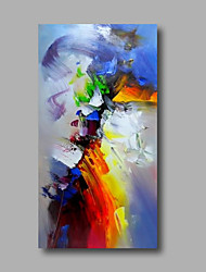 cheap -Oil Painting Hand Painted Abstract Modern Stretched Canvas / Rolled Canvas With Stretched Frame or Rolled Without Frame