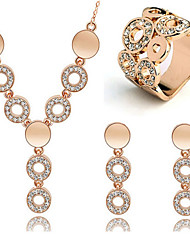 cheap -Crystal Jewelry Set Hoop Earrings Ladies Vintage Party Work Fashion Birthstones Rose Gold Cubic Zirconia Rhinestone Earrings Jewelry Gold For Party Special Occasion Anniversary Birthday Gift 1 set