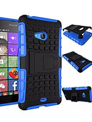 cheap -Case For Nokia Lumia 630 / Nokia Lumia 950 / Nokia Lumia 540 Nokia Lumia 640 XL / Nokia Lumia 535 / Nokia Lumia 435 Shockproof / with Stand Back Cover Armor Hard PC