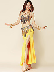 cheap -Belly Dance Outfits Women's Performance Polyester / Spandex Draping Skirt