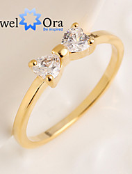 cheap -Women's Band Ring Cubic Zirconia Gold Cubic Zirconia Gold Plated Fashion Elegant Party Jewelry