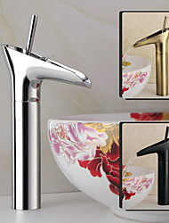 cheap -Bathroom Sink Faucet - Waterfall Oil-rubbed Bronze Widespread One Hole / Single Handle One HoleBath Taps