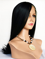 cheap -Synthetic Lace Front Wig Straight Straight With Bangs Lace Front Wig Short Medium Length Long Black#1B Dark Brown Medium Brown Synthetic Hair Women's Natural Hairline Black Brown