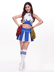 cheap -Cheerleader Costumes / Dance Costumes Outfits Women's Performance Polyester Embroidery Sleeveless High Top / Skirt
