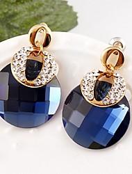 cheap -Women's Drop Earrings Silver Plated Earrings Jewelry Blue / Green / Black For