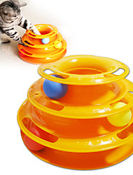 cheap -Interactive Interactive Cat Toys Fun Cat Toys Cat Toy 1 Piece Ball Track Disk Plate Plastic Gift Pet Toy Pet Play